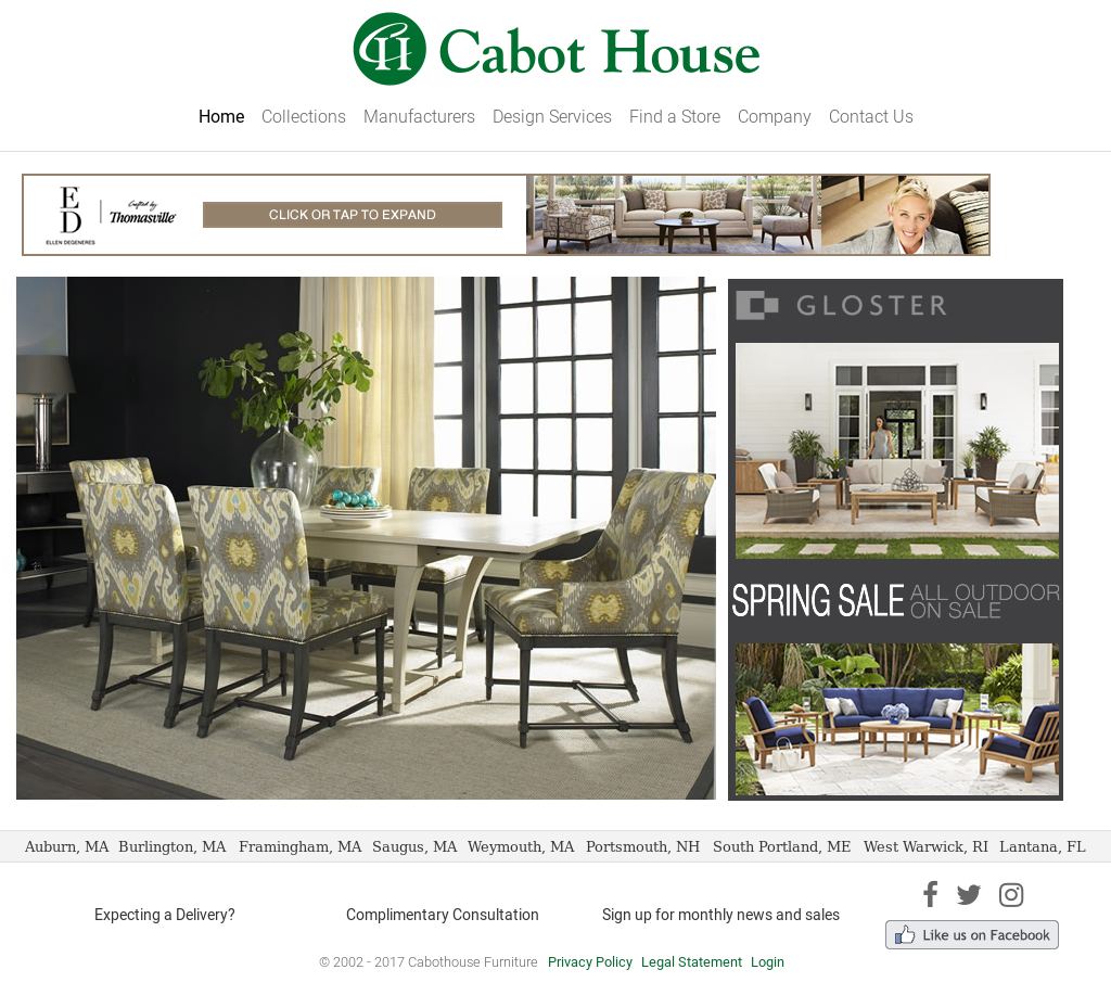 Cabothouse Furniture Website History