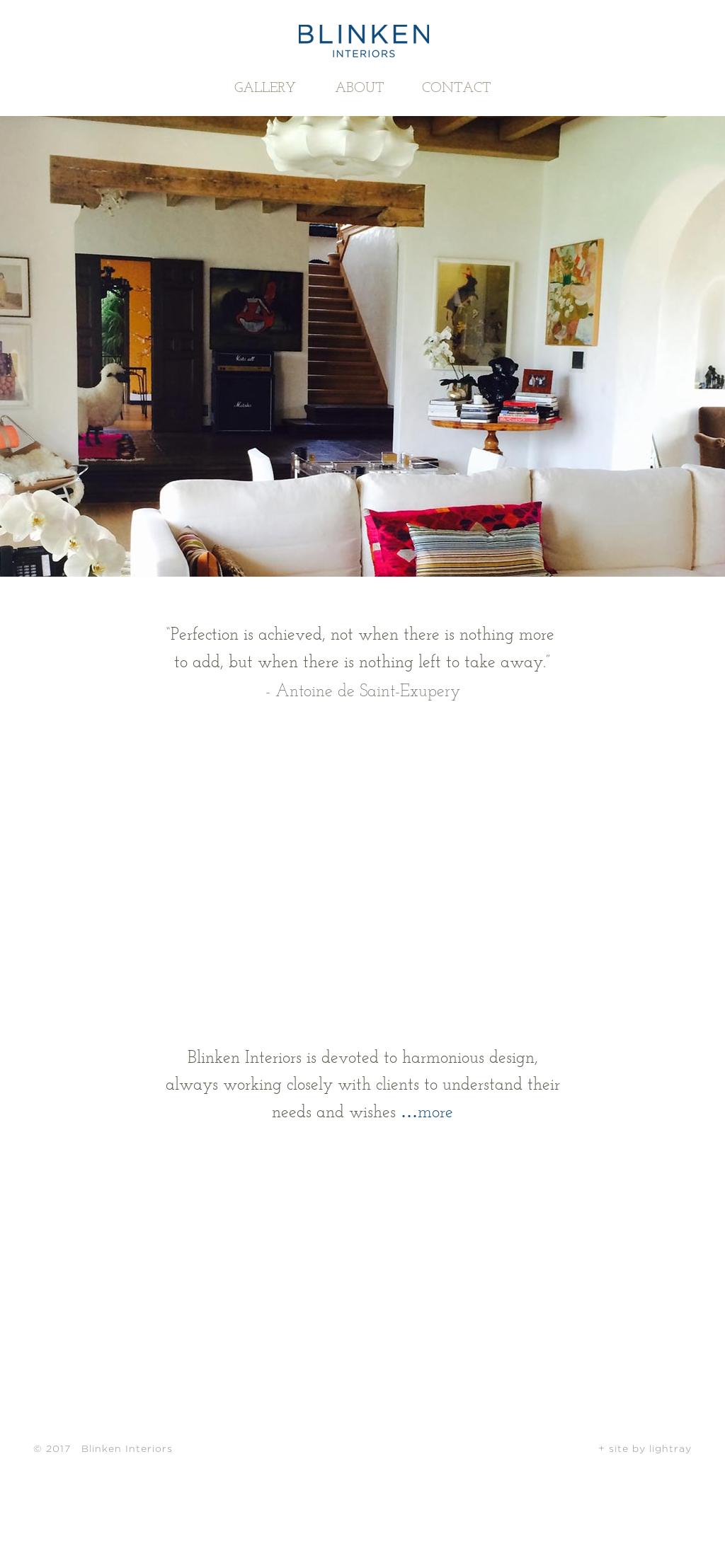 Blinken Interiorsu0027s Website Screenshot On Mar 2017