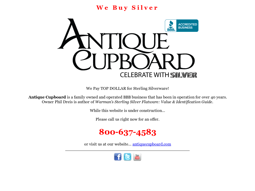 Antique Cupboard Sterling Silver Treasures website history - Antique Cupboard Sterling Silver Treasures Competitors, Revenue And