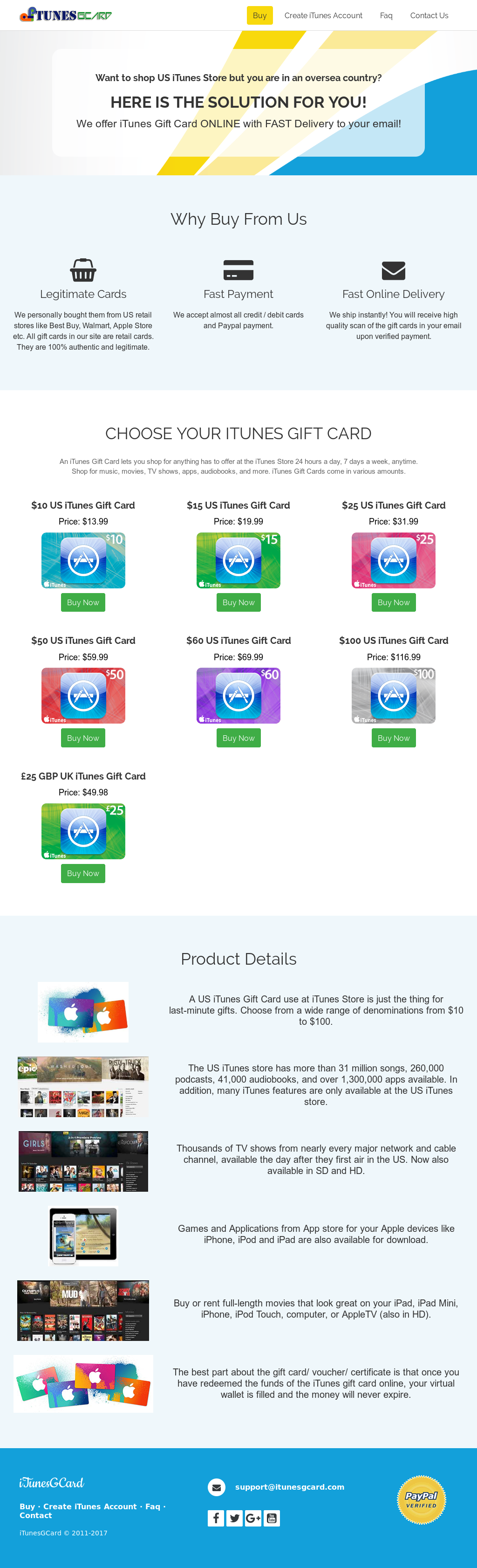 Itunes Gift Card Instant Online Delivery Itunesgcard Competitors Us 100 Website History