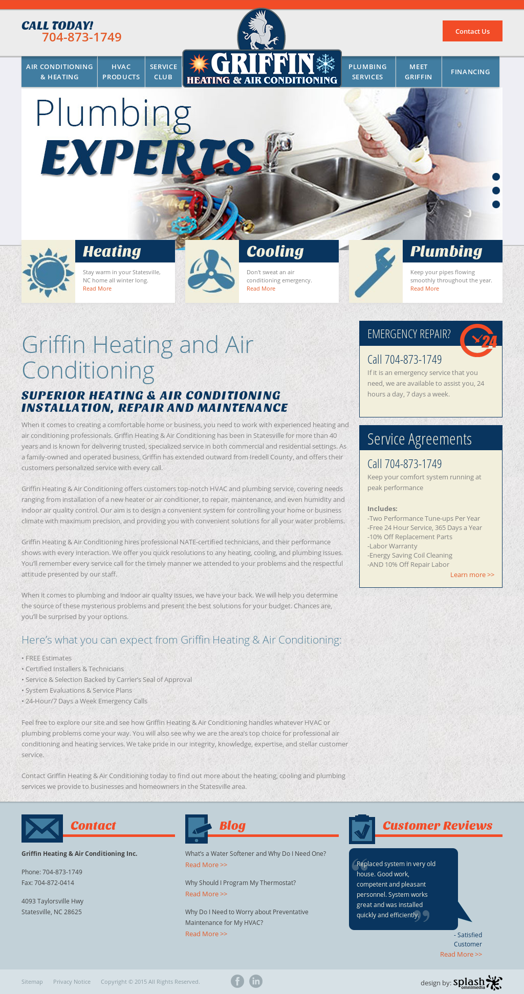 Griffin Heating Air Conditioning Compeors Revenue And Employees Owler Company Profile