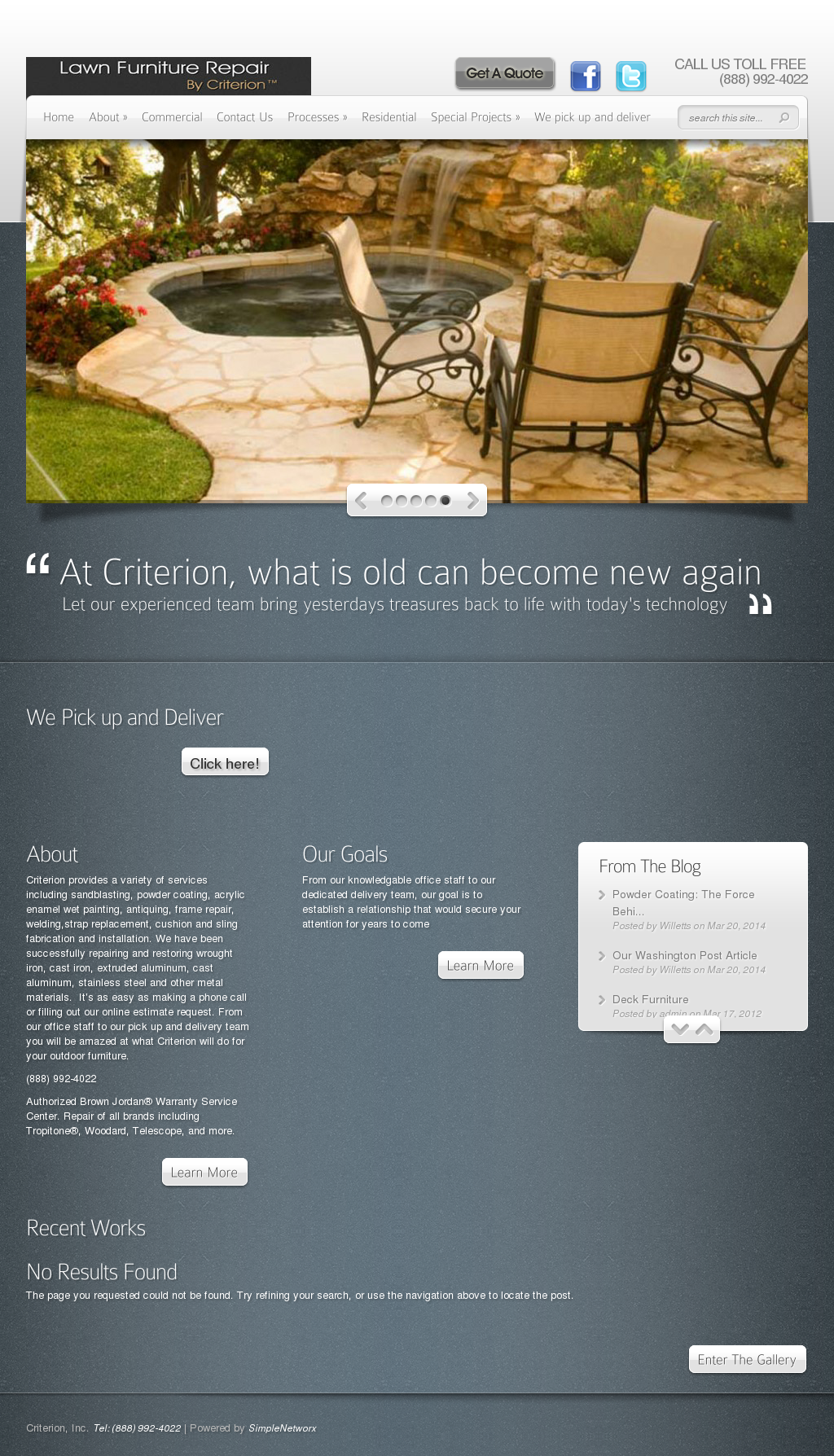 Criterion Outdoor Furniture Compeors