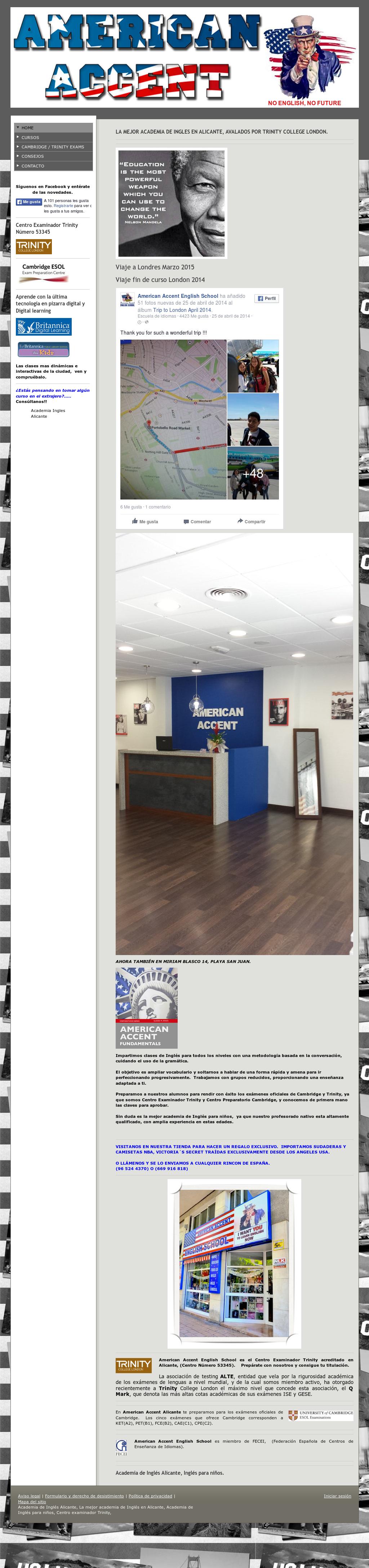 American Accent English School Competitors, Revenue and