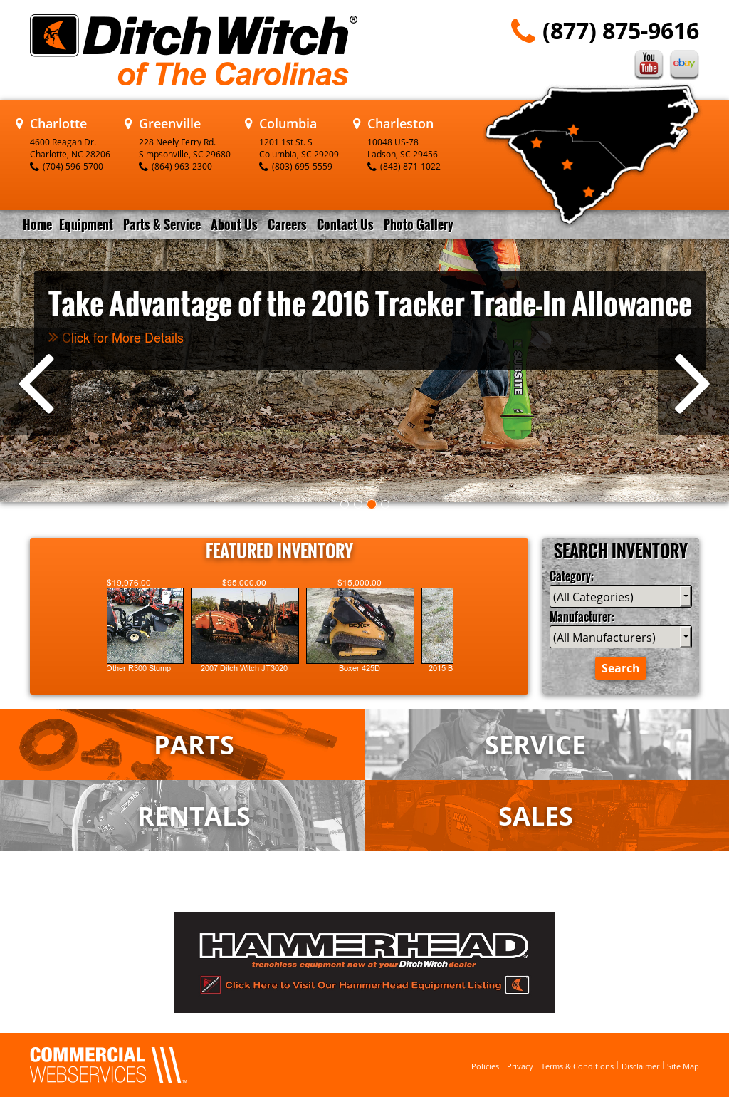 Ditch Witch of the Carolinas Competitors, Revenue and Employees