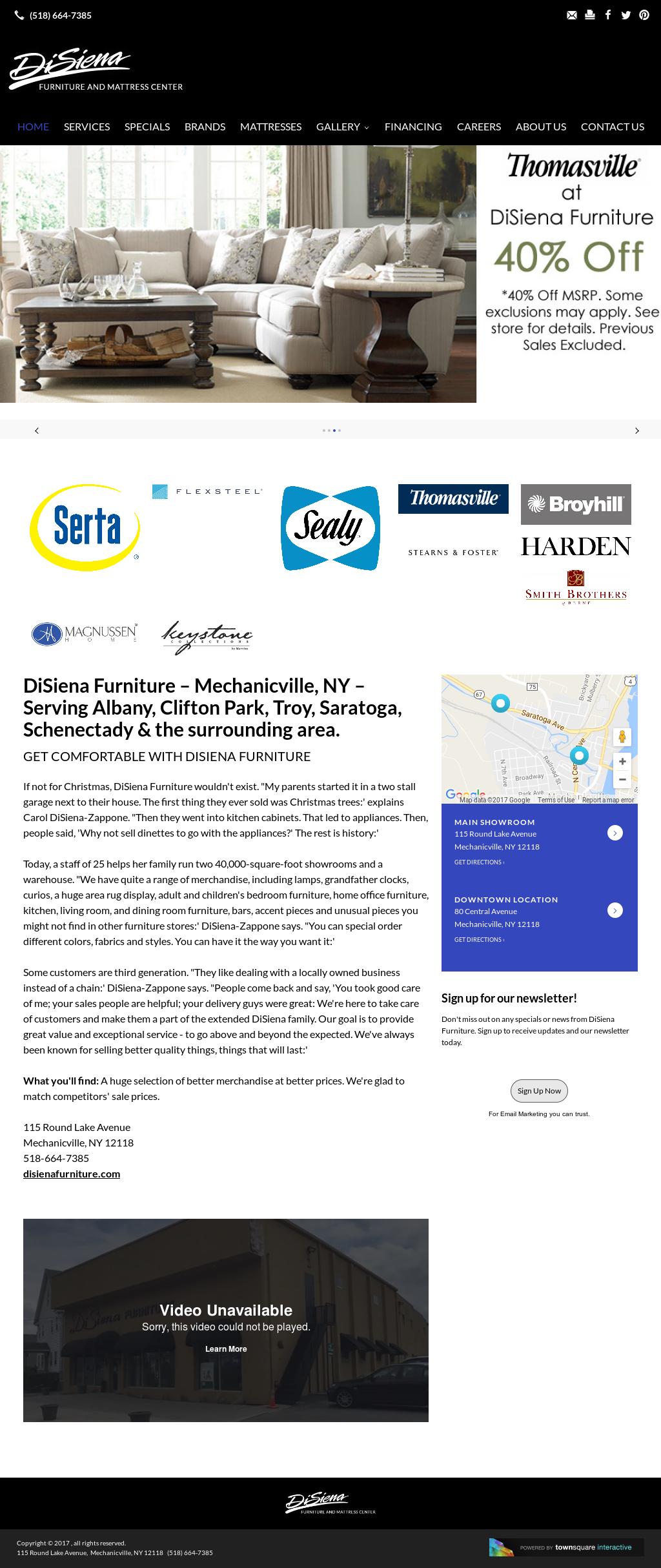 DiSiena Furniture Website History