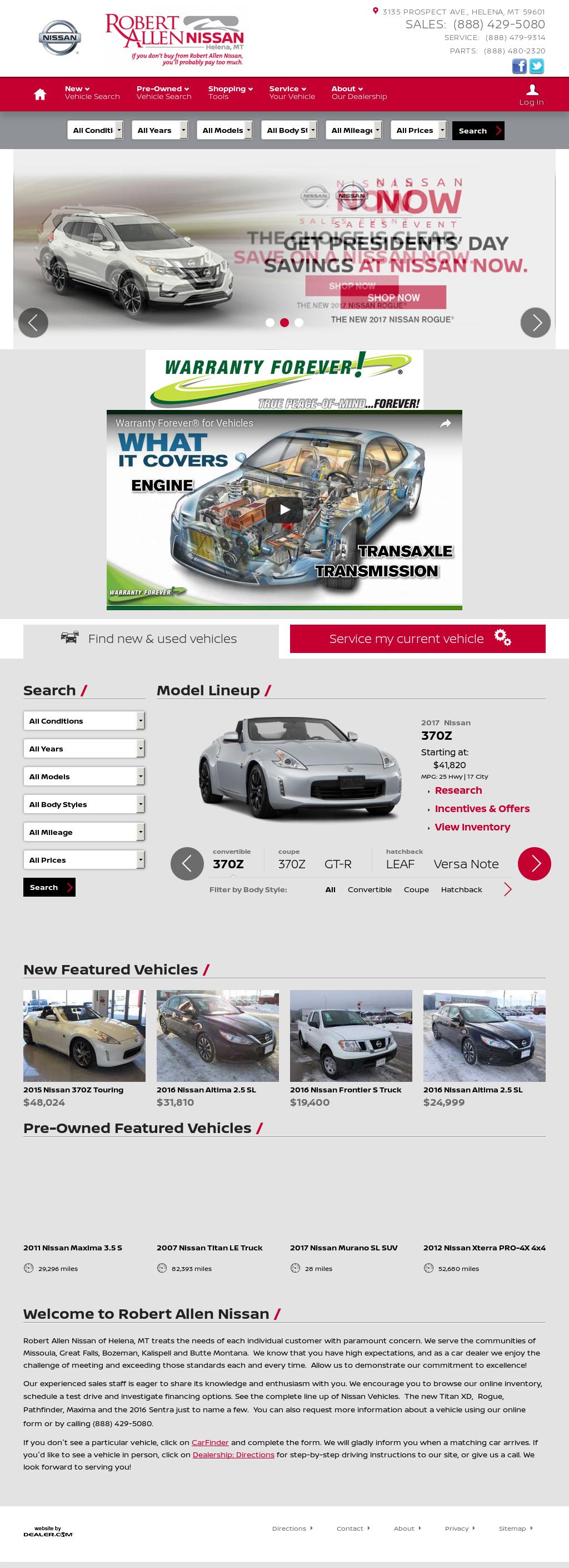 Robert Allen Nissan >> Robert Allen Nissan Of Helena Competitors Revenue And