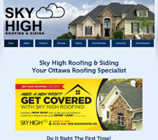 May 2017. Sky High Roofing Website History