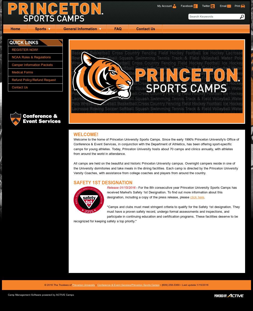 Princeton University Sports Camps Competitors, Revenue and