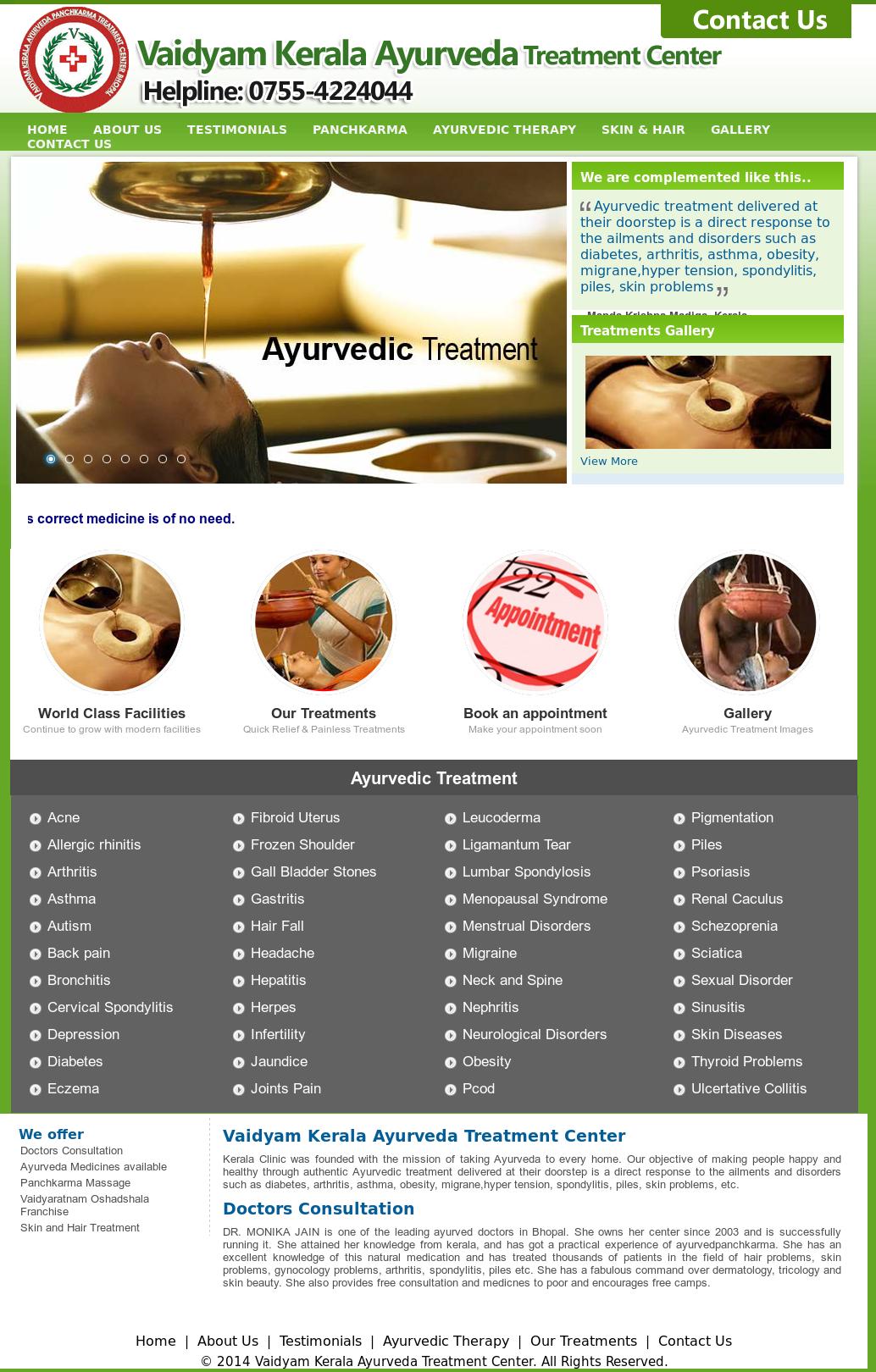 Vaidyam Kerala Ayurveda Treatment Center Competitors