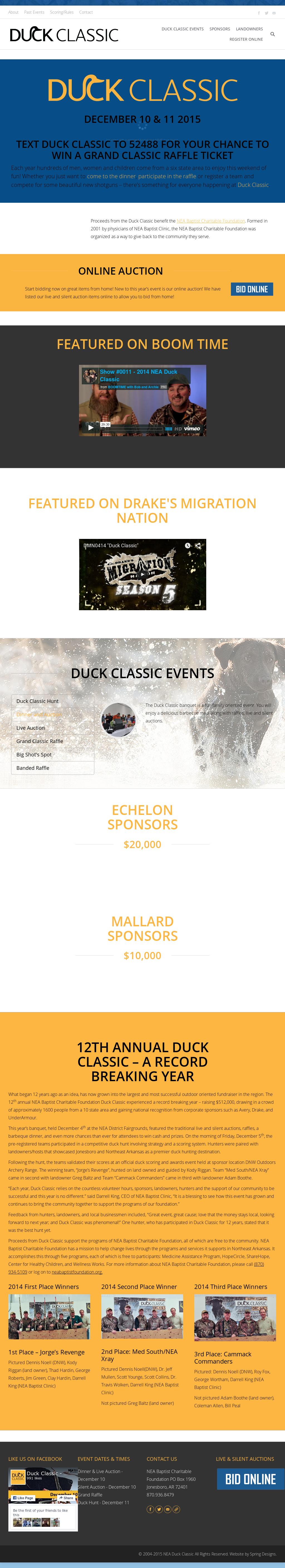 Duck Classic - A Fundraiser For Nea Baptist Charitable