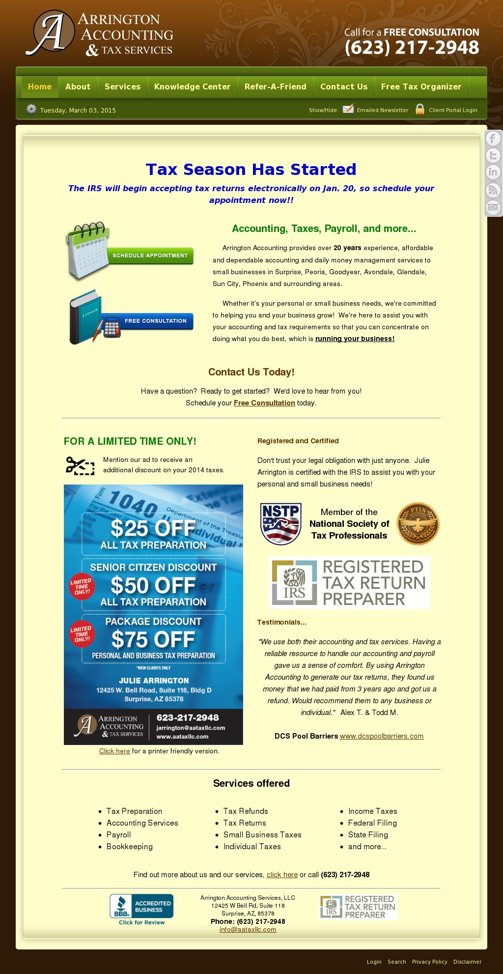 Arizonasmallbusinesspayroll Competitors, Revenue and Employees
