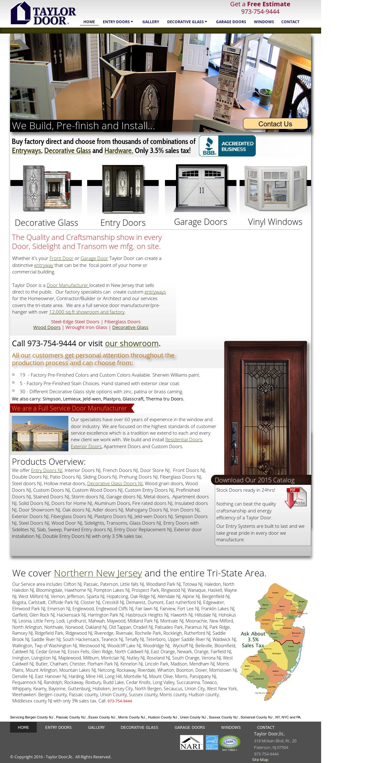 Taylor Door Website History