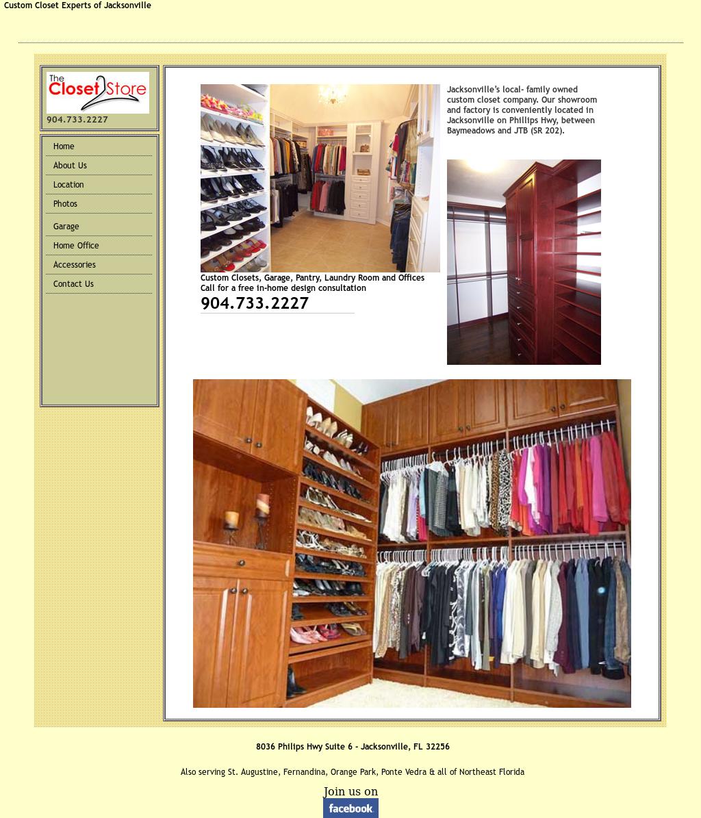 Amazing The Closet Store Website History