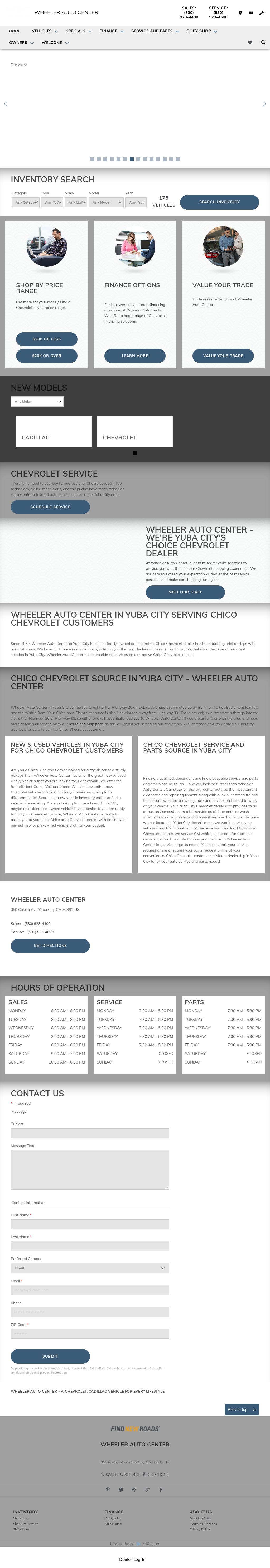 Wheeler Chevrolet Cadillac Mazda Website History