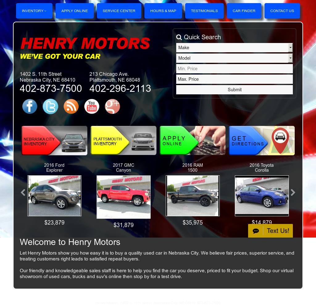 Chrysler Dealer Omaha: Henry Motors Nebraska City