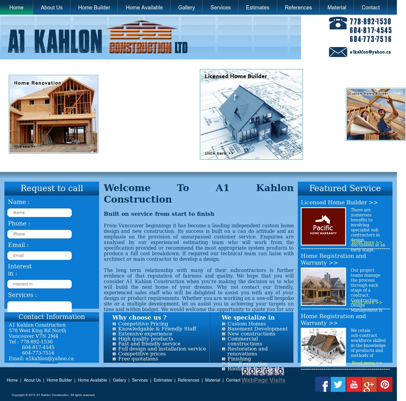 A1 Kahlon Construction Competitors, Revenue and Employees - Owler