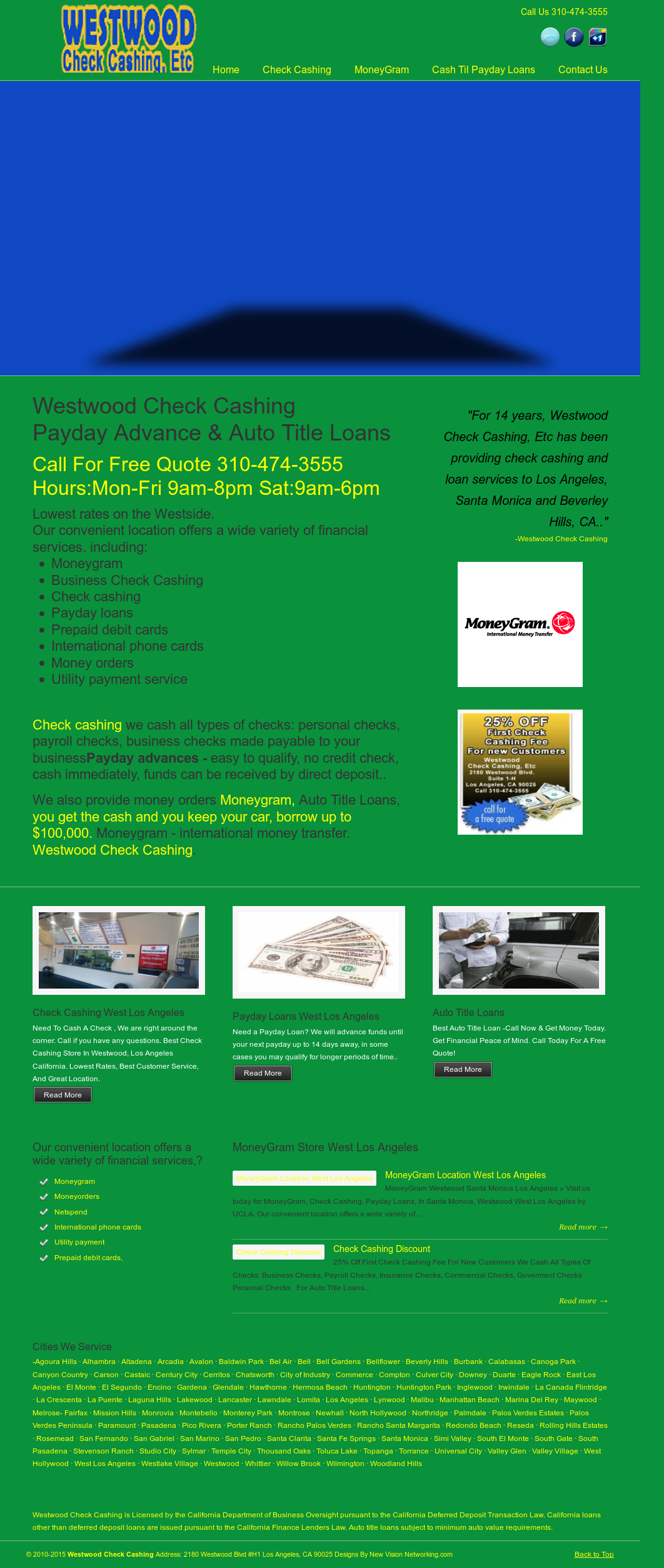 Westwood Check Cashing & Payday Loans Competitors, Revenue and
