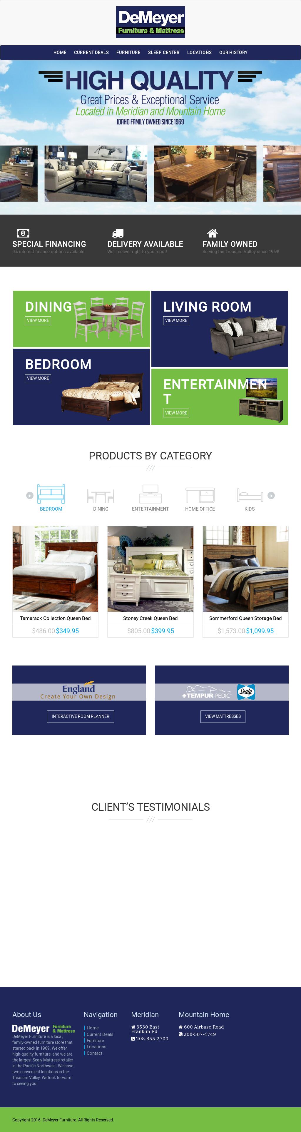 Demeyer Furniture Website History