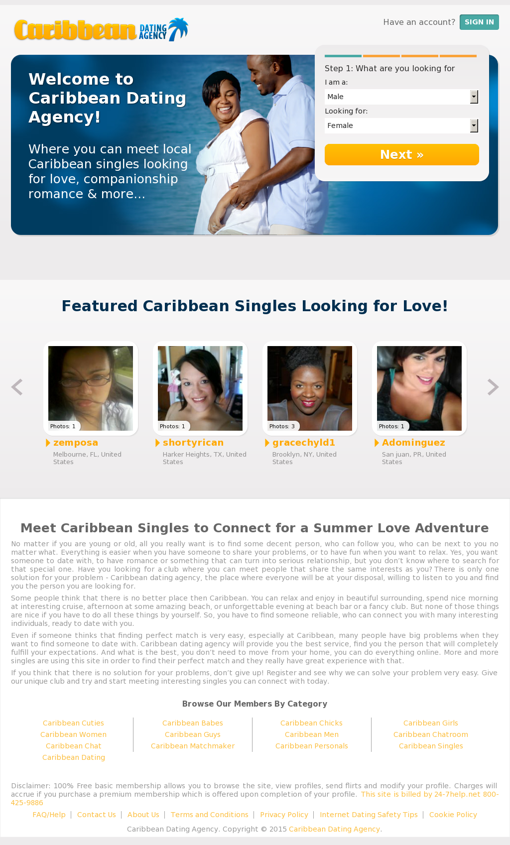 Caribbean dating site free