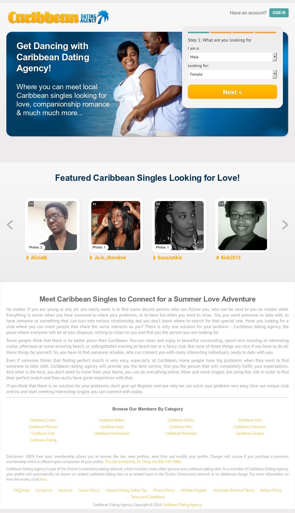 Caribbean singles dating