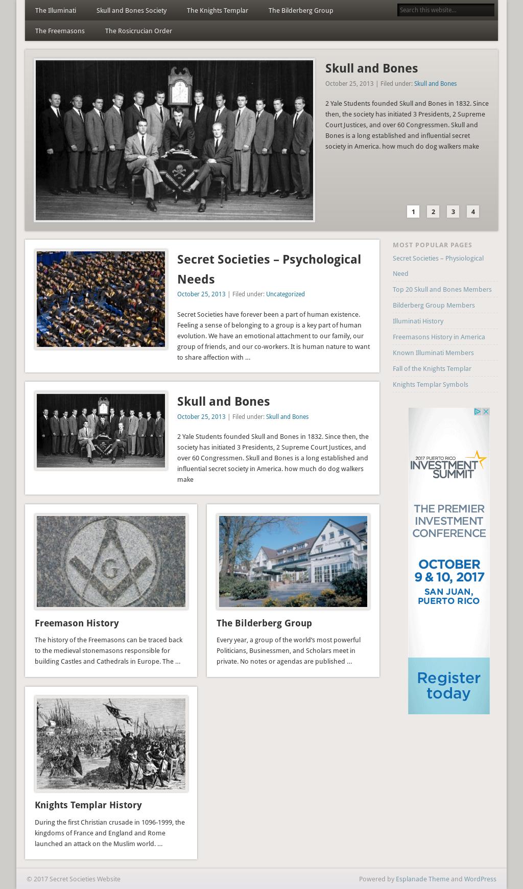 Secret Societies Website Competitors, Revenue and Employees