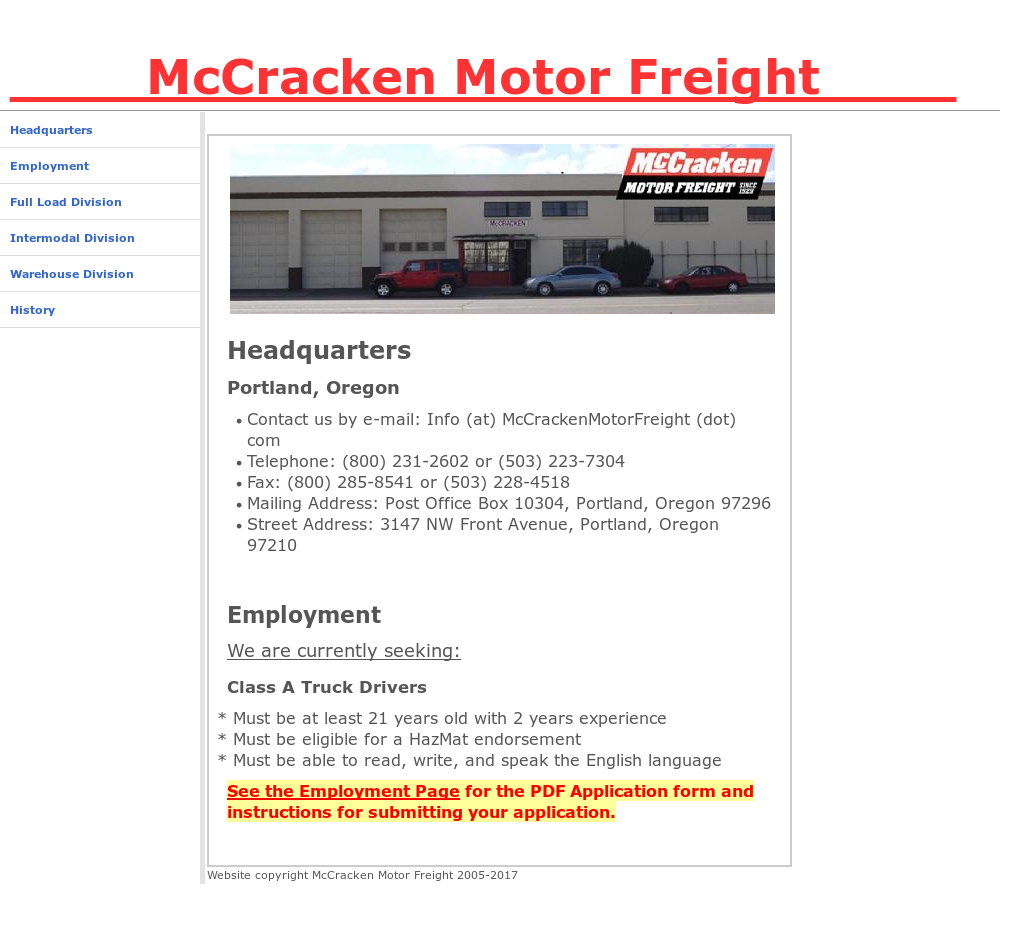 mccrackenmotorfreight competitors revenue and employees owler