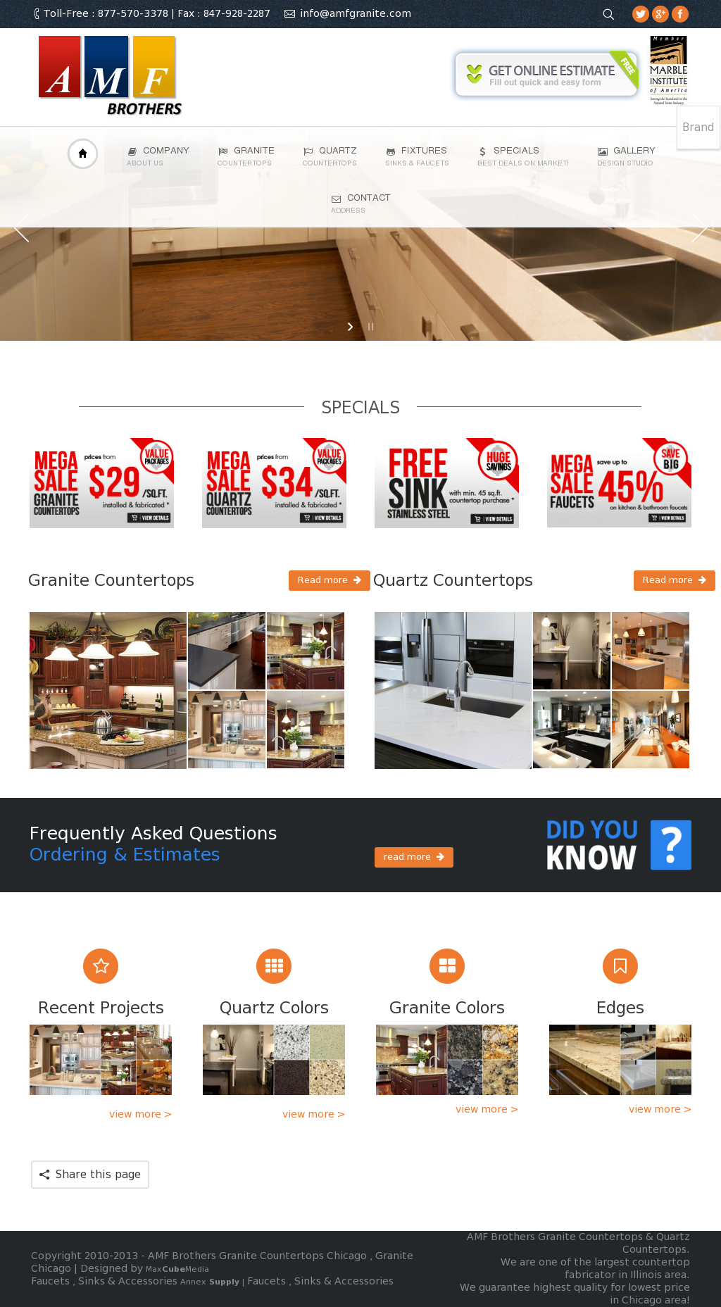 Amf Brothers Granite Countertops Chicago Website History