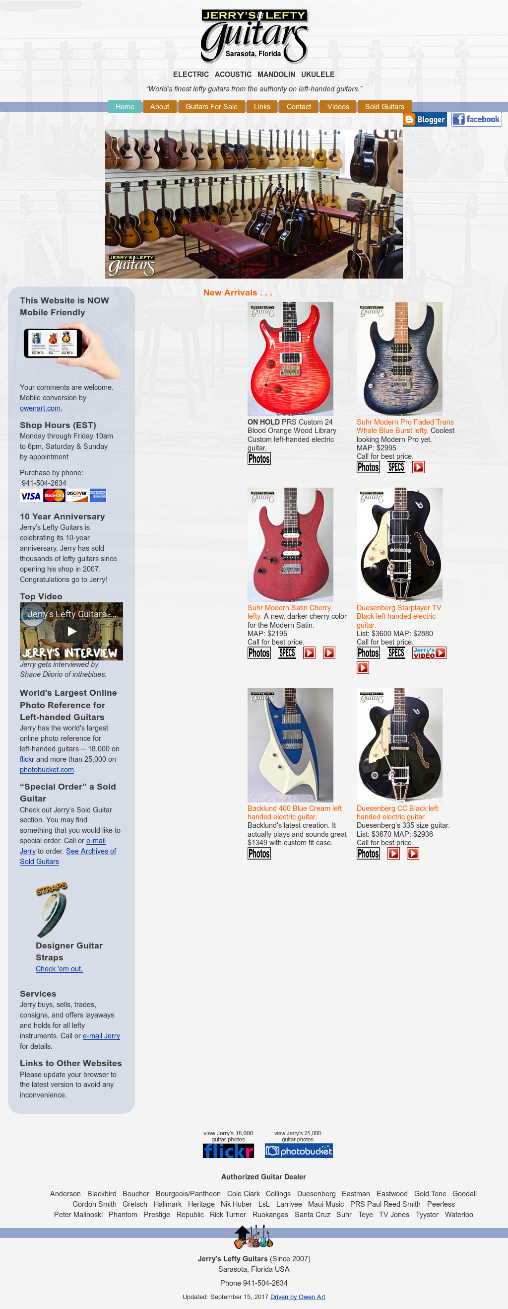 Jerry's Lefty Guitars Competitors, Revenue and Employees - Owler