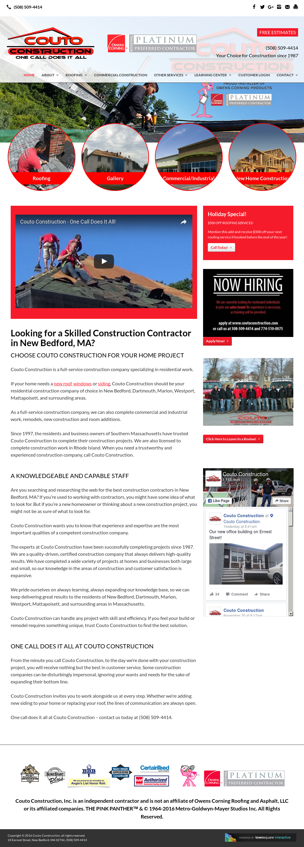 Couto Construction Competitors, Revenue and Employees