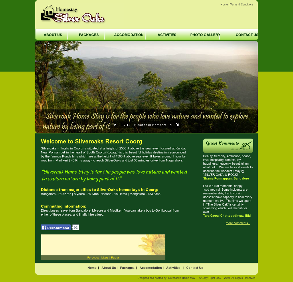 The Silveroaks Resort, Coorg Competitors, Revenue and Employees