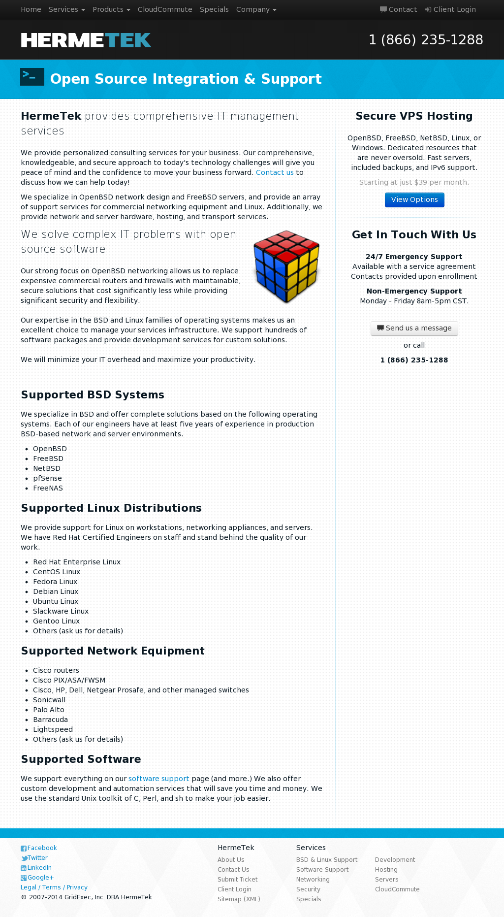 hermetek network solutions competitors revenue and employees