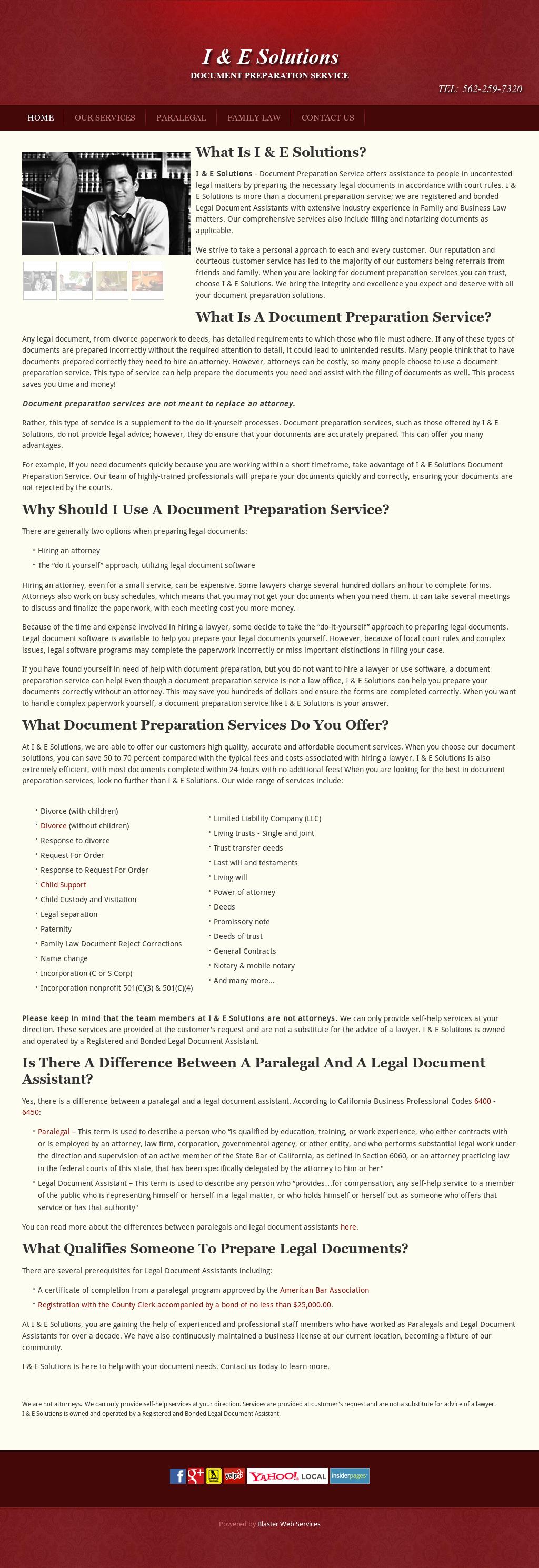I E Solutions Document Preparation Service Competitors Revenue - Legal document preparation business