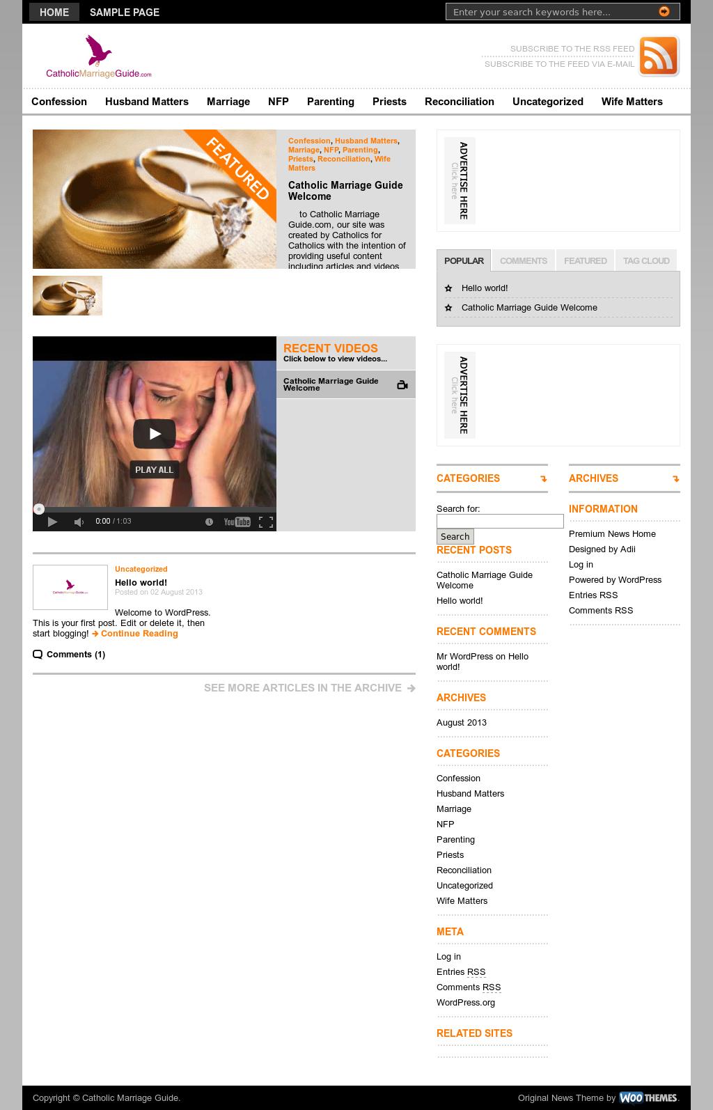 Catholic marriage website