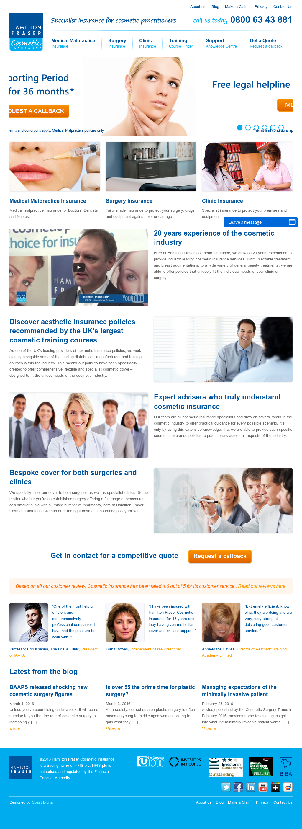 Cosmetic Insurance Competitors, Revenue and Employees