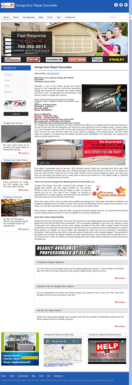Garage Door Repair Escondido Website History