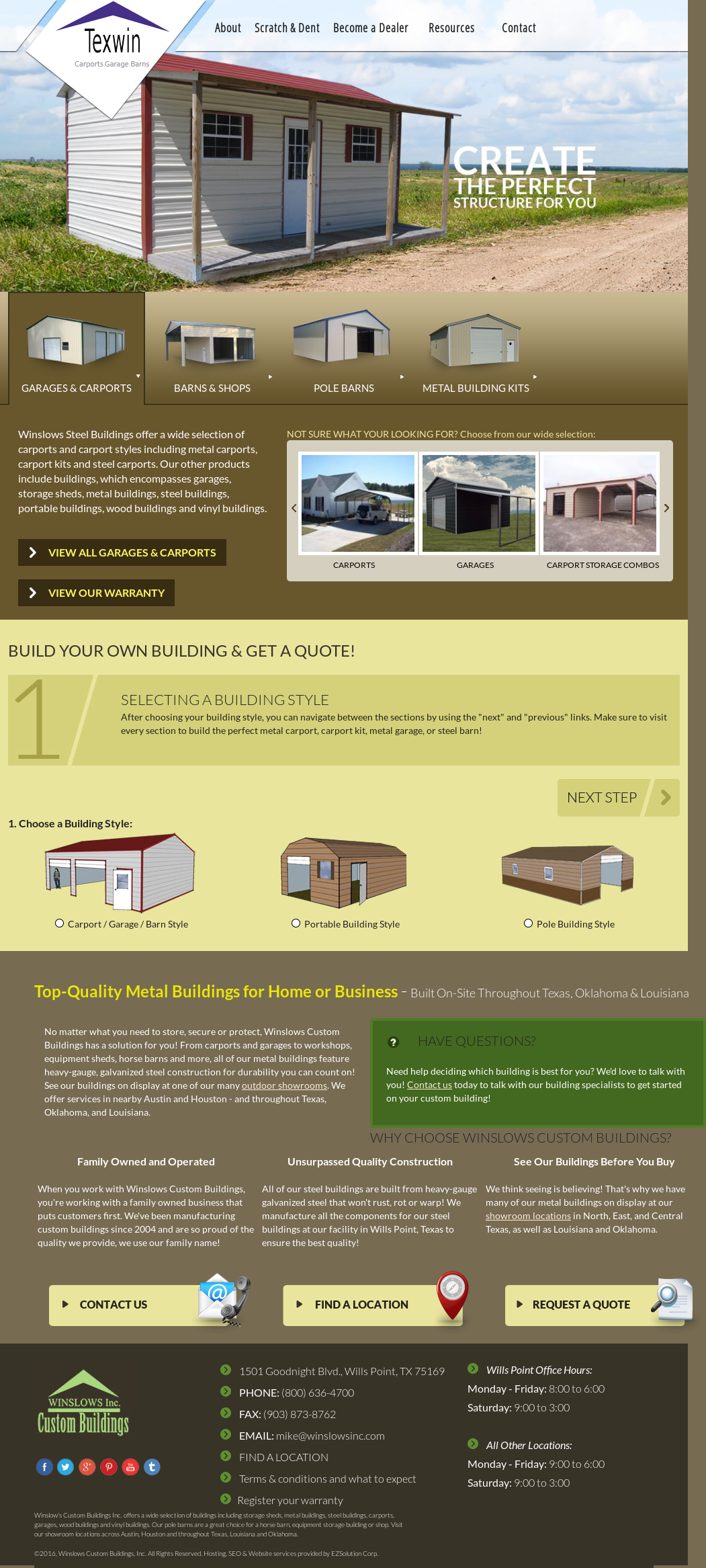 Texwin Custom Buildings Competitors, Revenue and Employees