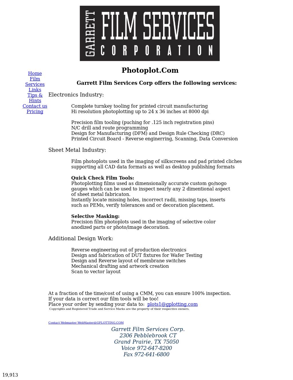 Garrett Film Competitors, Revenue and Employees - Owler