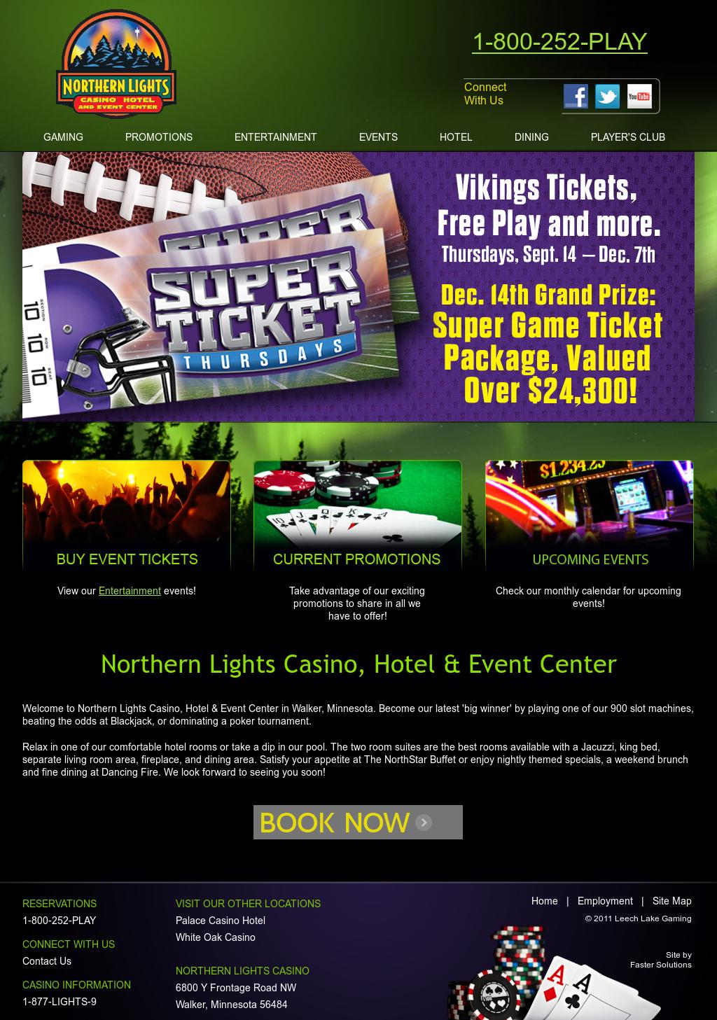 Northern Lights Casino Website History