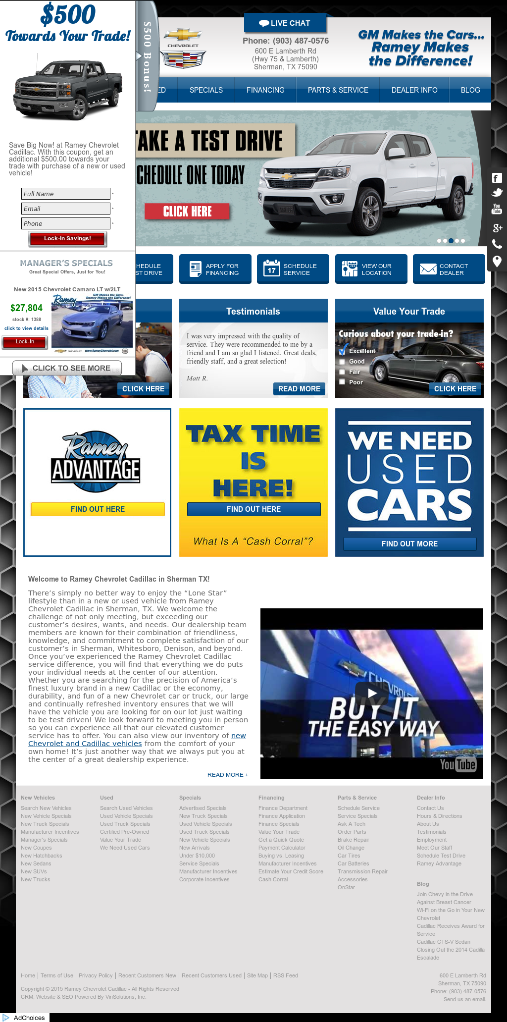 Ramey Chevrolet Sherman Tx >> Ramey Chevrolet Cadillac Competitors Revenue And Employees
