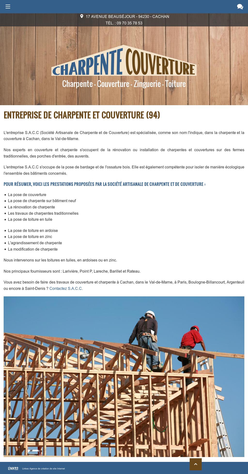Tuile En Bois Nom charpente couverture competitors, revenue and employees