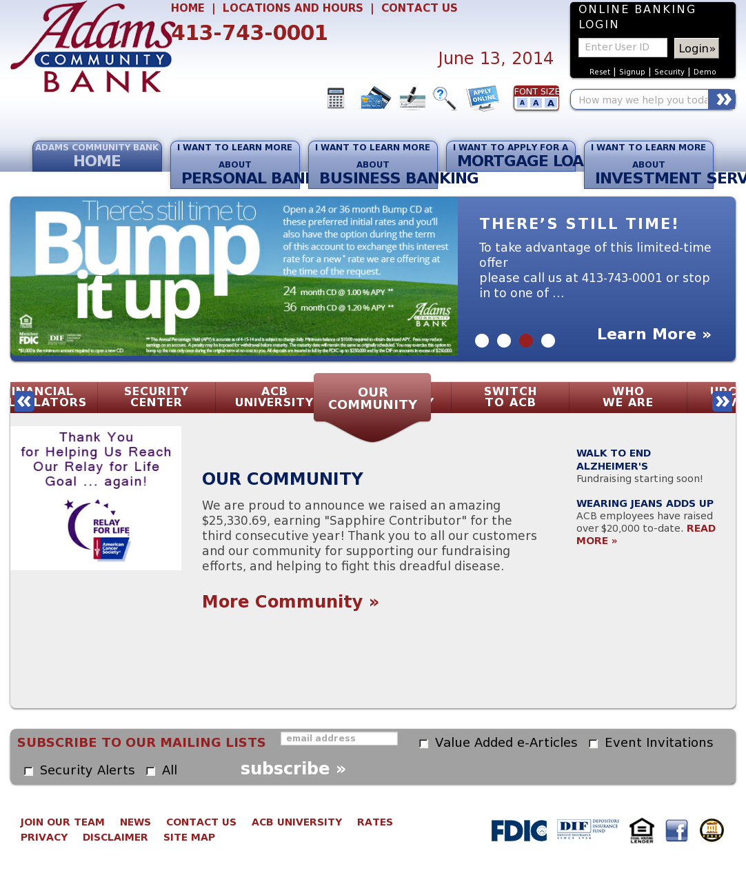 Adams Community Bank Competitors, Revenue and Employees - Owler