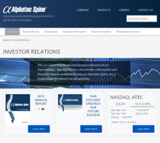 ATEC Spine Competitors, Revenue and Employees - Owler