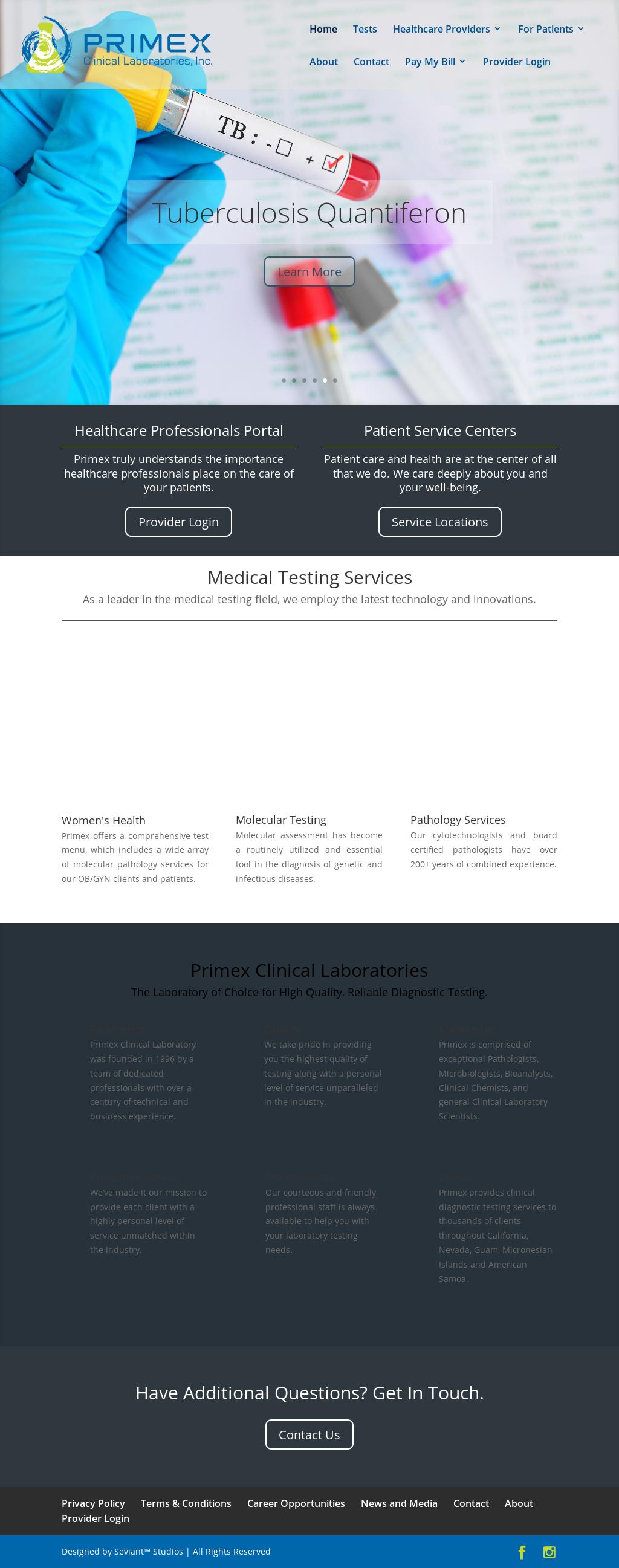 Primex Clinical Laboratories Competitors, Revenue and