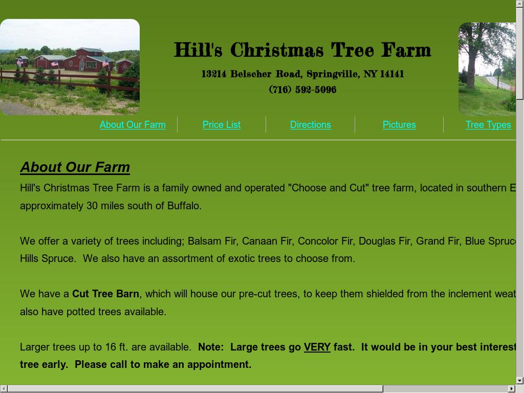 Hill's Christmas Tree Farm Competitors