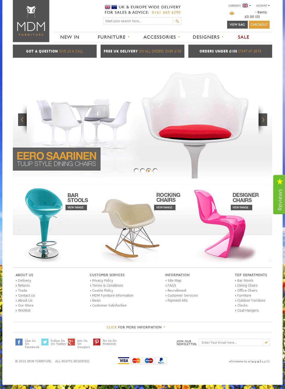 Mdm Furniture Website History