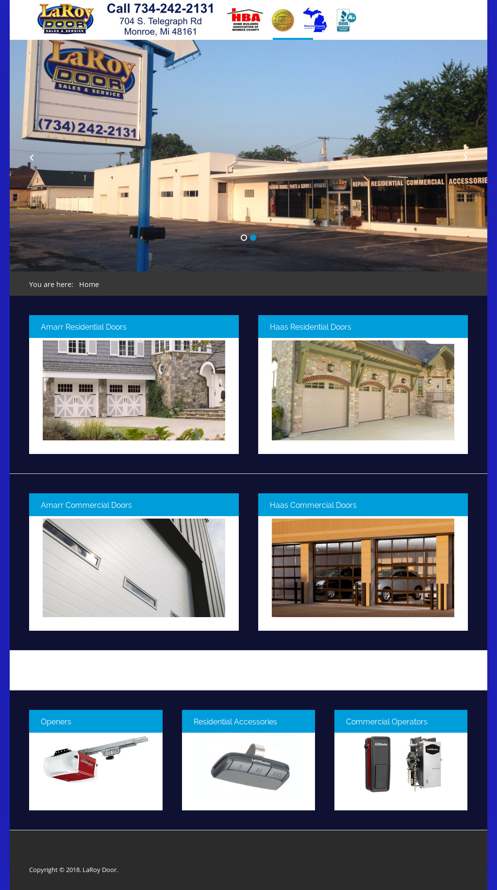 Exceptionnel Laroy Door And Contracting Website History