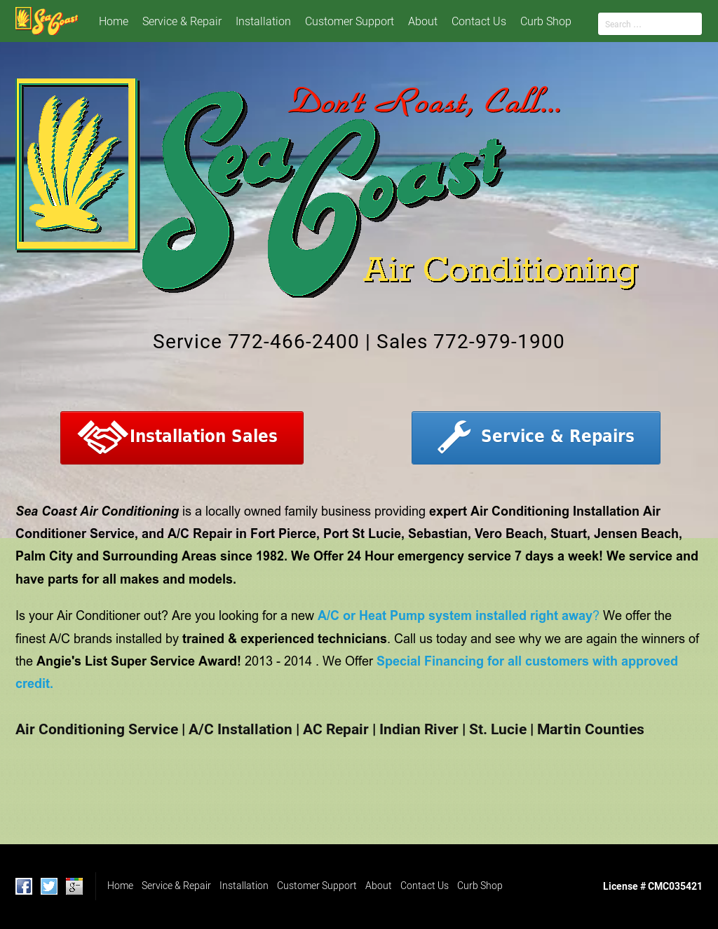 Sea Coast Air Conditioning Compeors Revenue And Employees Owler Company Profile