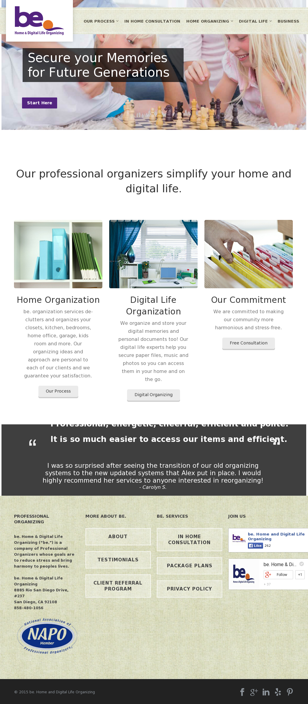 Be  Home And Digital Life Organizing Competitors, Revenue