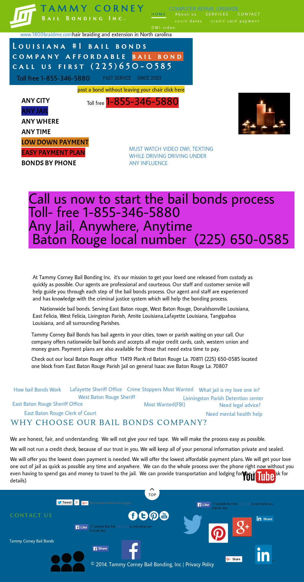 Tammy Corney Bail Bonding Competitors, Revenue and Employees
