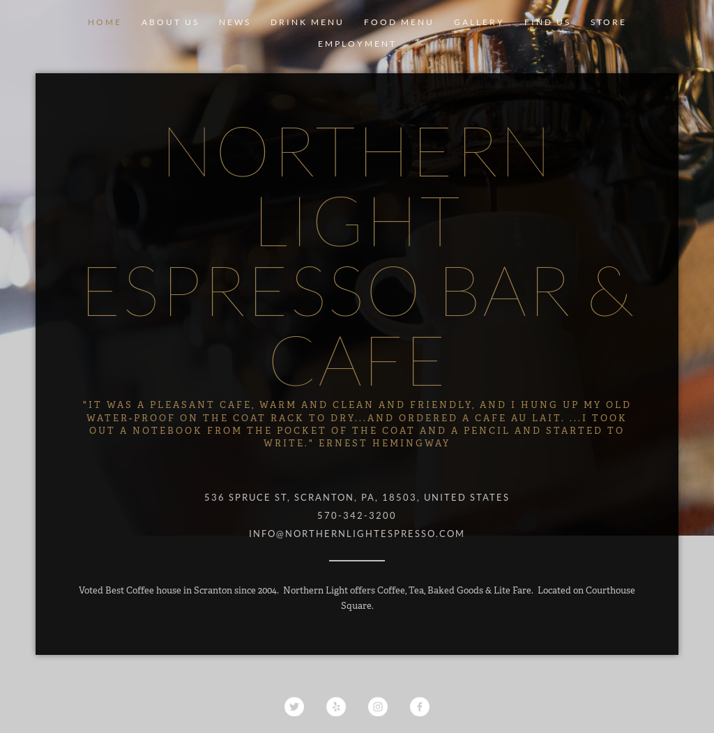 Northern light espresso bar competitors revenue and employees northern light espresso bar website history aloadofball Choice Image